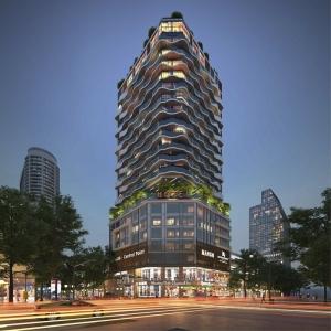 Dự án lau kiếng tòa nhà Mai Linh
